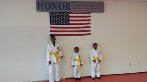 Testing 071313 - Left to Right; Kyniljia Smith, Dymir Campbell, Ty Campbell.  Congratulations