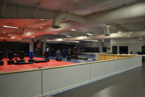 over 3500 square feet of matted work out area